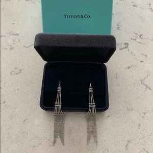 Tiffany & Co. White Gold earrings (worn once)